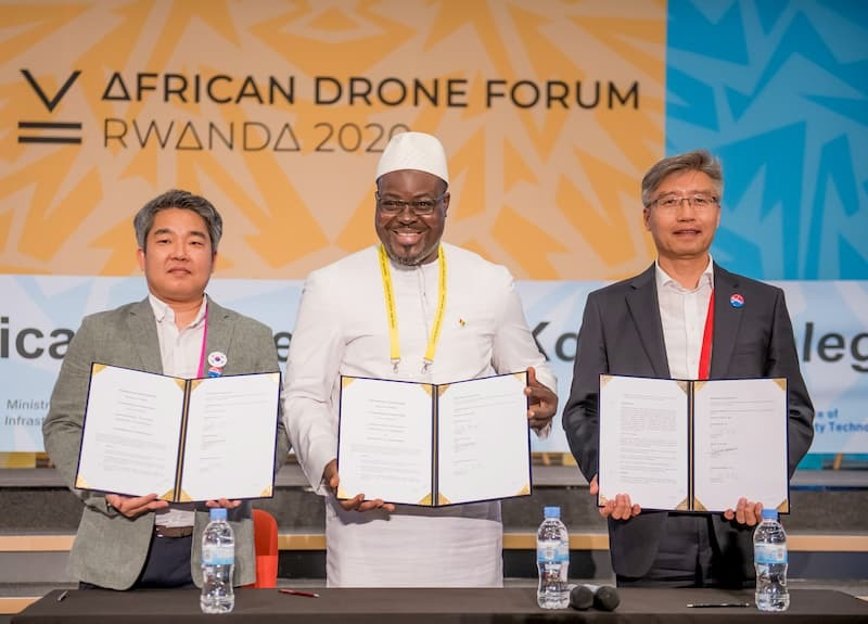 Read more about the article An MOU Signed Between Senegal Flying Labs & Korean Companies